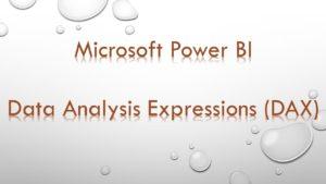 Power BI DAX advanced Cursus DAX gevorderd cursus